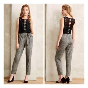 ANTHROPOLOGIE | Elevenses Lace Medley Jumpsuit
